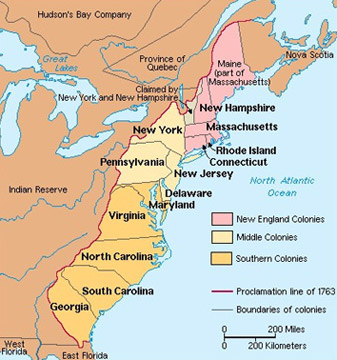 Contact Conflict American Revolution And After - Map of us after revolutionary war