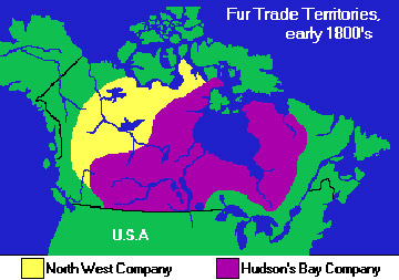 Map Of Canada Fur Trade.The Métis A New Canadian Nation