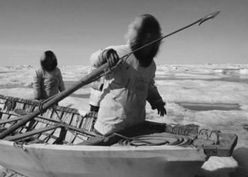 Hunters In An Umiak