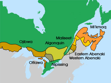 Eastern Woodland Indians Tribes Maps http://firstpeoplesofcanada.com/fp_groups/fp_wh1.html